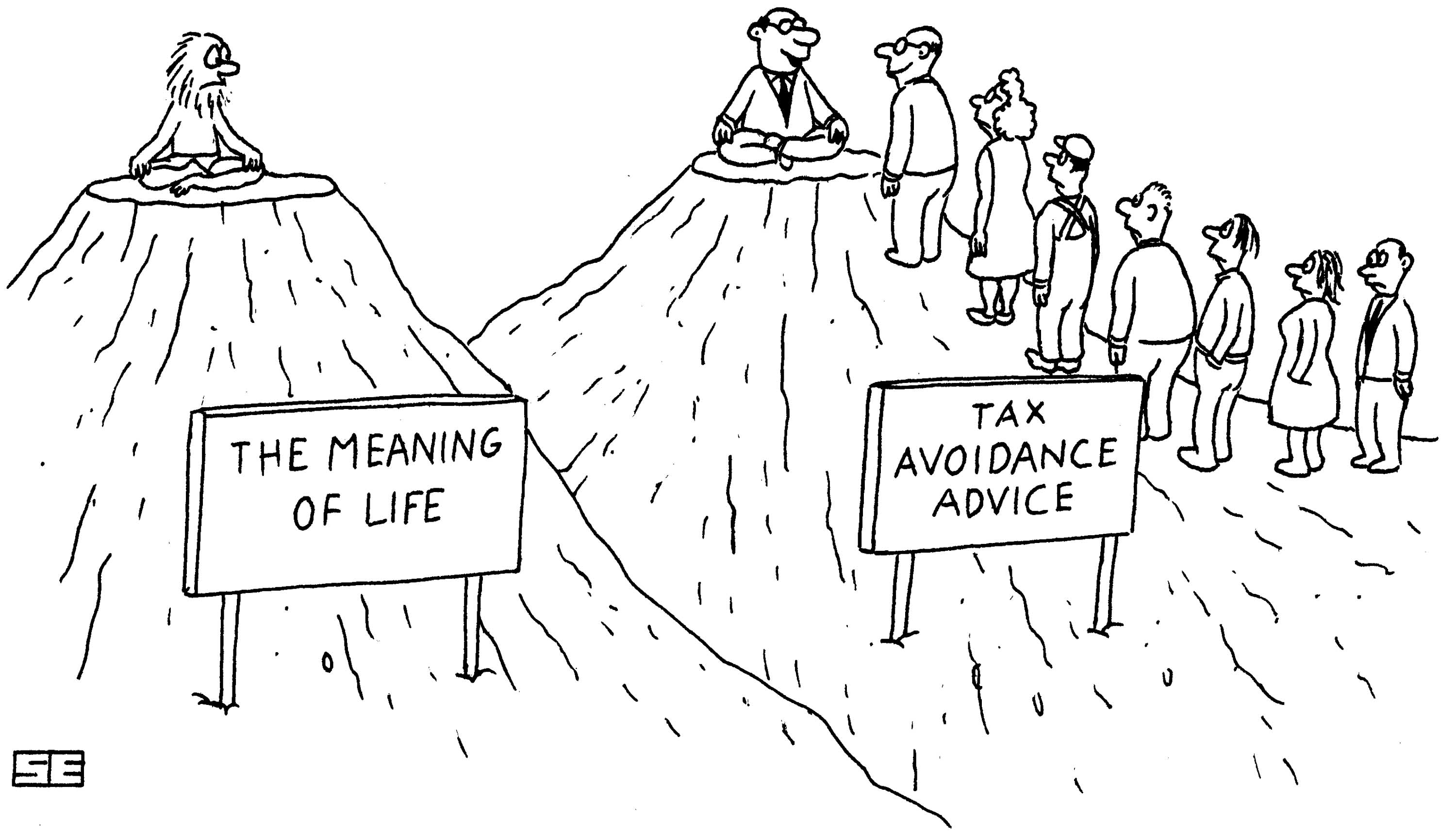 meaning of life vs. tax avoidance advice