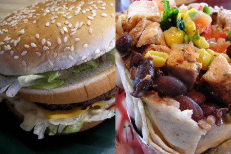 burger vs. burrito
