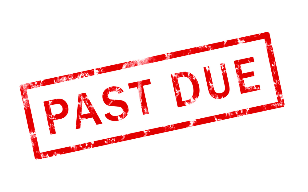 'Past Due' stamp