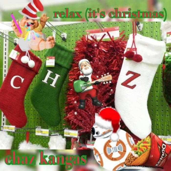x-mas stockings spell CHAZ