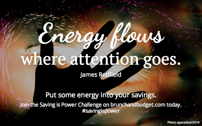 """Energy flows where attention goes"" -Redfield"