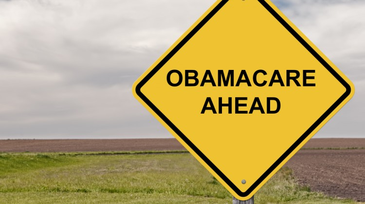 "sign ""Obamacare Ahead"""