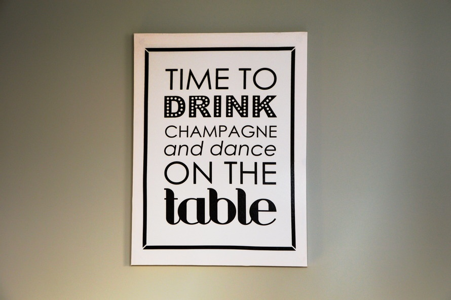 """Time to drink champagne and dance on the table"""