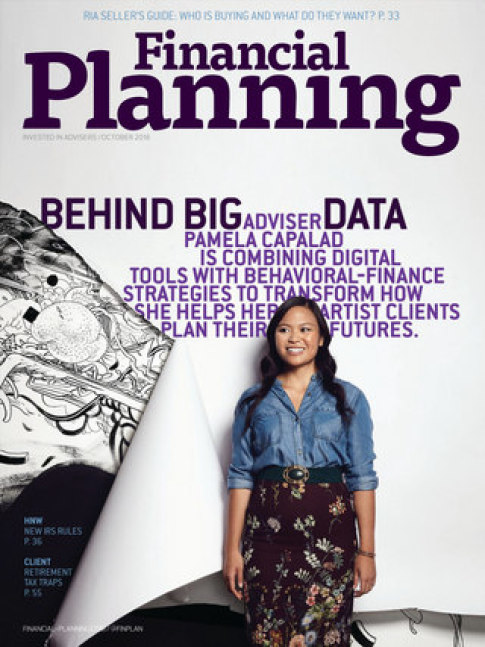 Financial Planning magazine cover with Pam